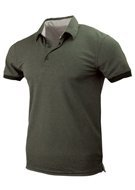 Polo Hals Dark Green