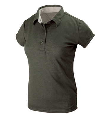 Polo Hals Lady Dark Green